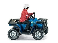 WIKING 0023 01  All Terrain Vehicle (ATV) - blau/schwarz