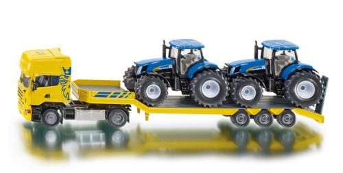 LKW mit New Holland Traktoren Spielzeugautos SIKU Farmer
