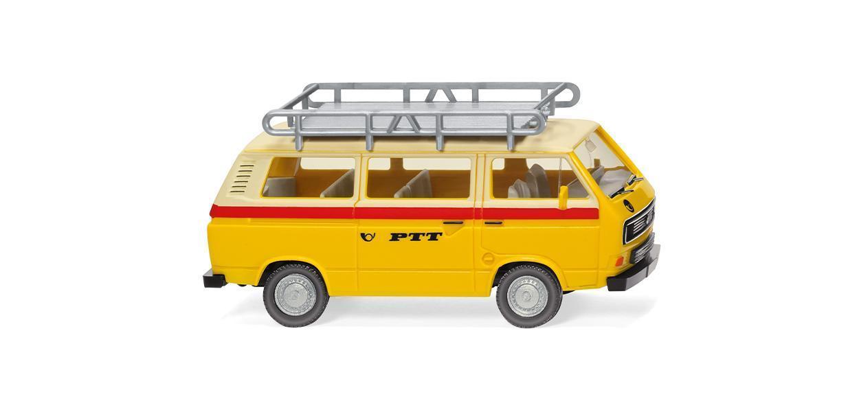 """Wiking 0293 07 Volkswagen T3 Doppelkapine in blau /"""" THW /"""" 1:87 NEUHEIT !!"""